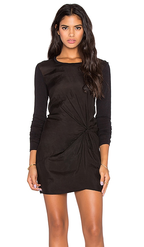 Stateside Twist Front Mini Dress in Black