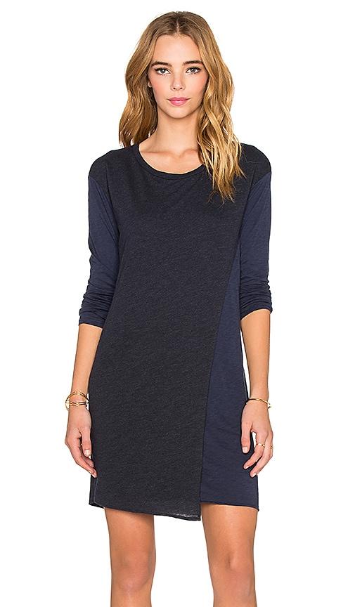 Stateside Long Sleeve T-Shirt Dress in Navy
