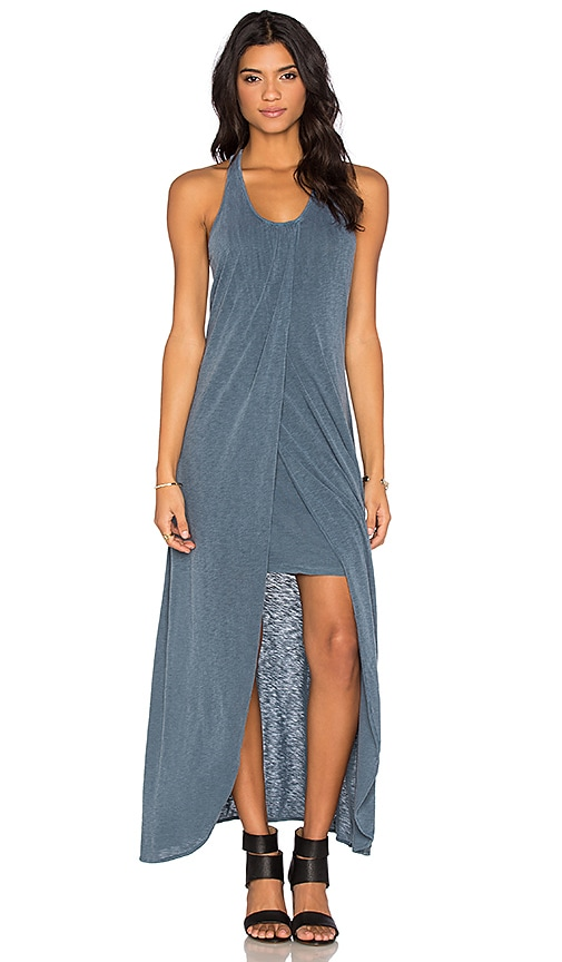 Supima Slub Jersey Scoop Neck Racerback Maxi Dress
