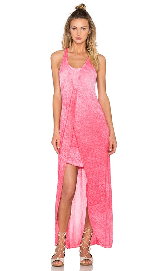 Oil Wash Supima Slub Jersey Scoop Neck Racerback Maxi Dress