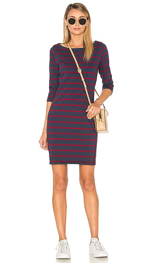 Stateside Wine Stripe Mini Dress in Navy