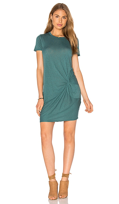 Stateside Knotted Mini Dress in Green