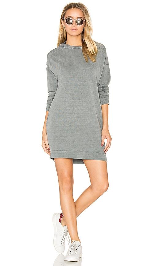 Stateside Hooded Sweatshirt Dress in Gray