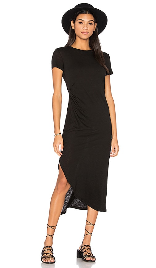 Stateside Short Sleeve Maxi Dress in Black