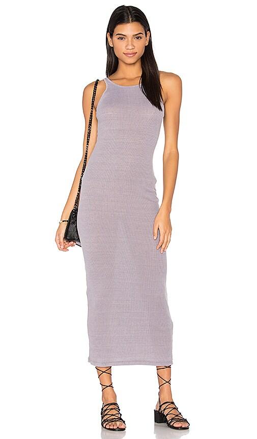 Stateside Rib Maxi Dress in Gray