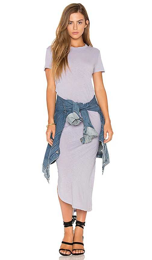 Stateside Short Sleeve Maxi Dress in Gray