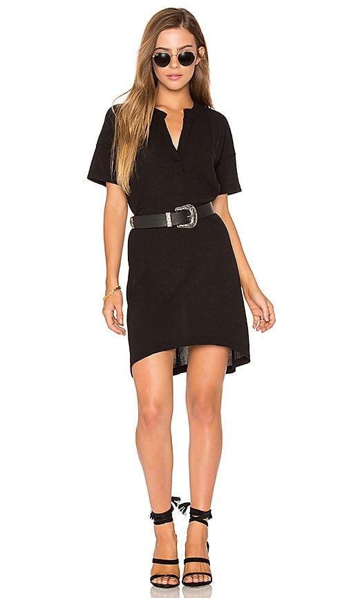 Stateside Short Sleeve Shirt Dress in Black