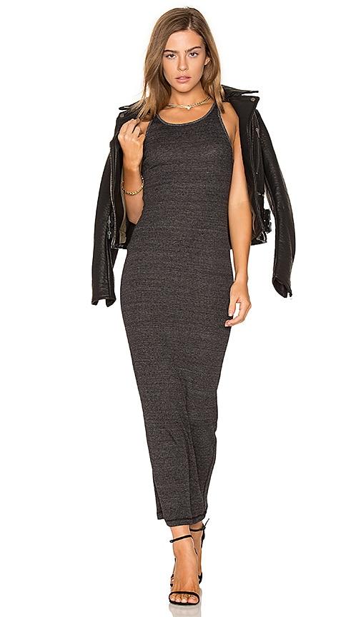 Stateside Rib Maxi Dress in Charcoal