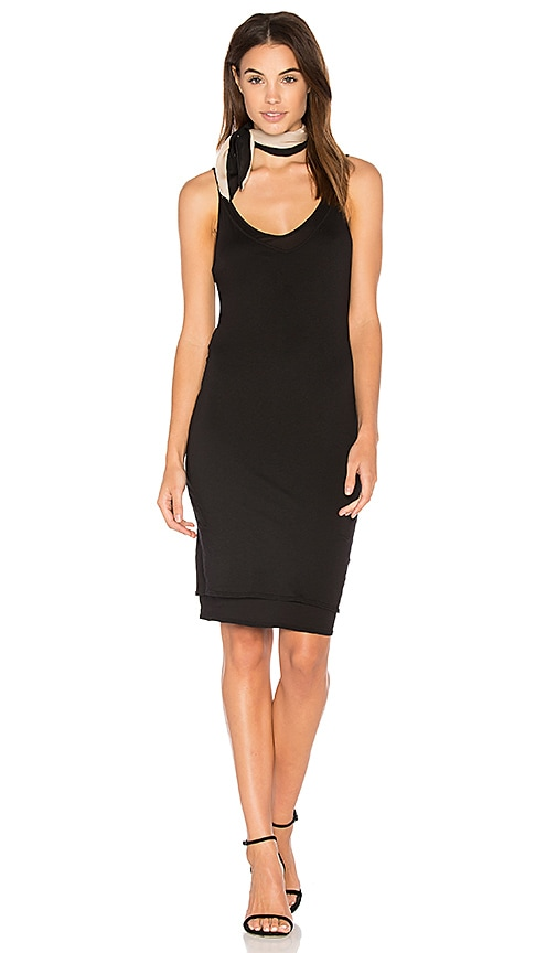 Stateside Layered Jersey Tank Dress in Black