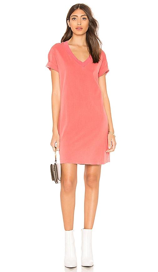 Stateside V-Neck T-Shirt Dress in Red