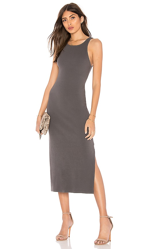 Stateside Bodycon Tank Dress in Charcoal