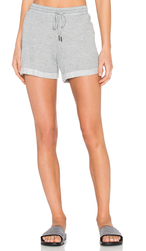 Stateside Lightweight French Terry Short in Heather Grey