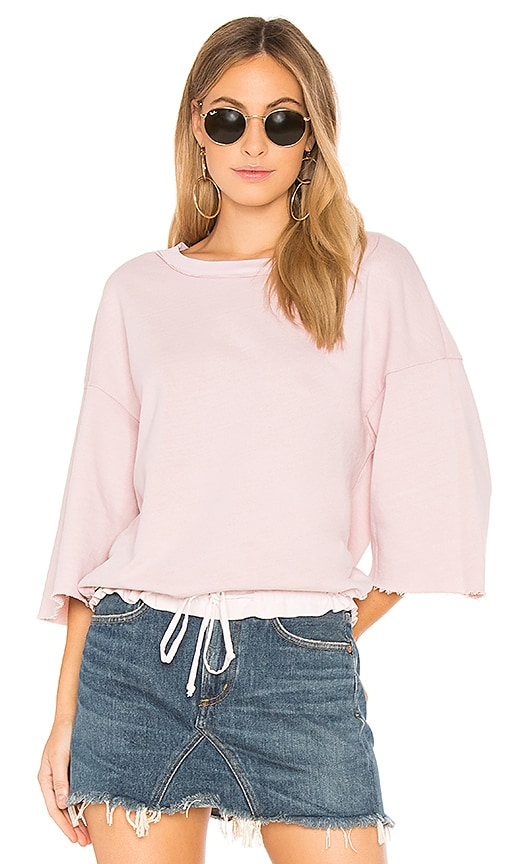 Stateside French Terry Sweatshirt in Blush