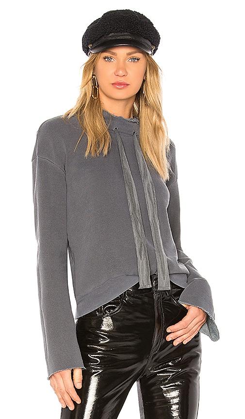 Stateside Bell Sleeve Sweatshirt in Gray