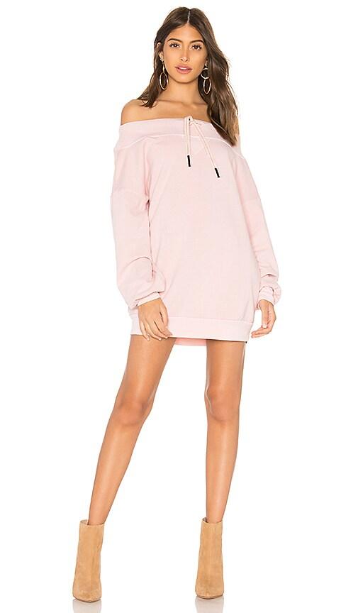 Stateside Off the Shoulder Sweatshirt in Pink