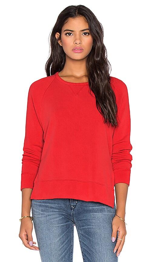 Stateside Split Side Sweatshirt in Red
