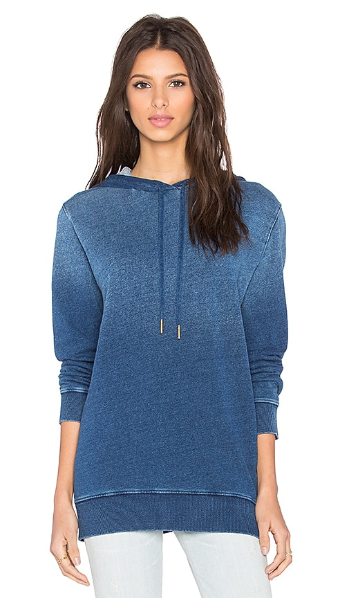 Stateside Indigo French Terry Pullover Hoodie in Medium Terry