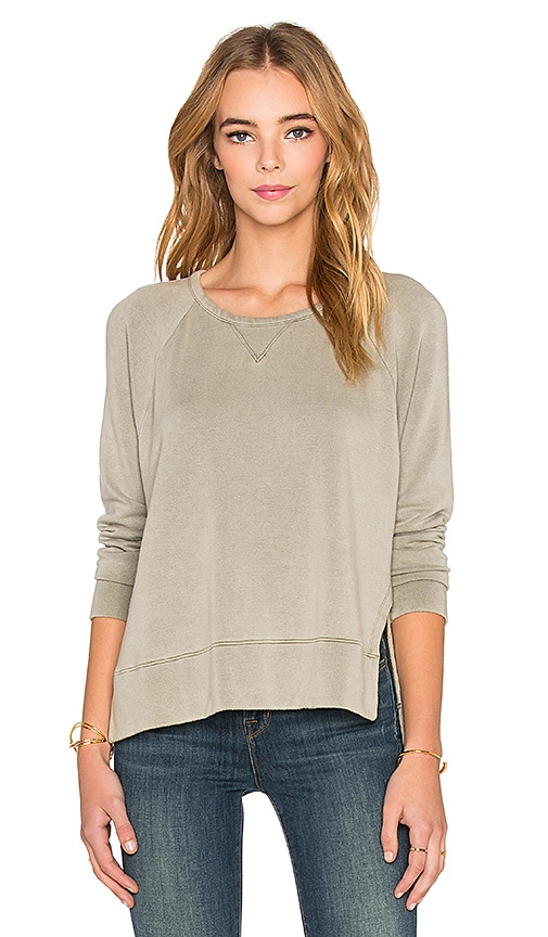 Stateside Split Side Sweatshirt in Olive