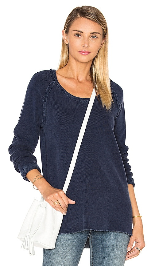 Stateside French Terry Pullover in Navy