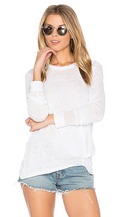 Stateside Burnout French Terry Sweatshirt in White