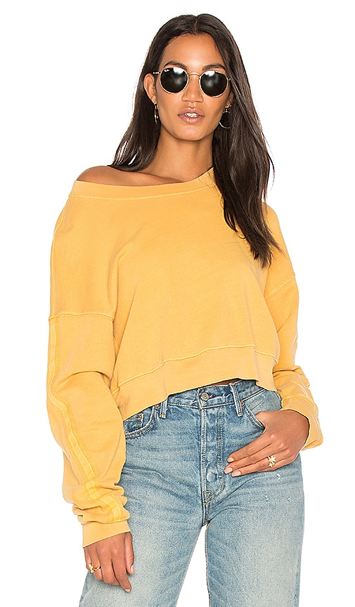 Stateside French Terry Sweatshirt in Mustard