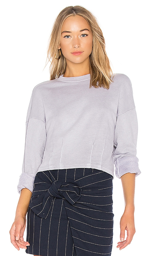 Stateside French Terry Pullover in Gray