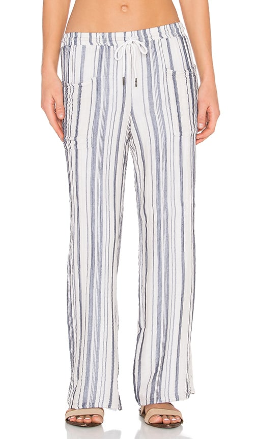 Stateside Vertical Charcoal Stripe Veil Pant in Blue