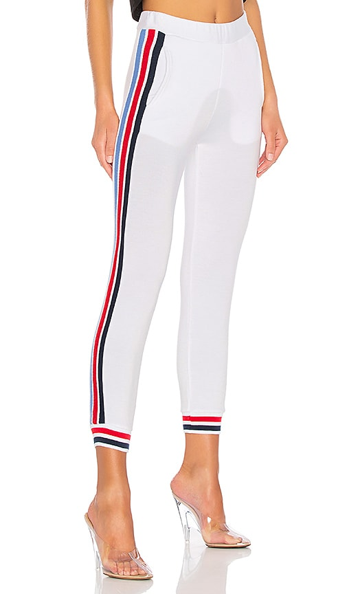 Stateside State Track Pant in White