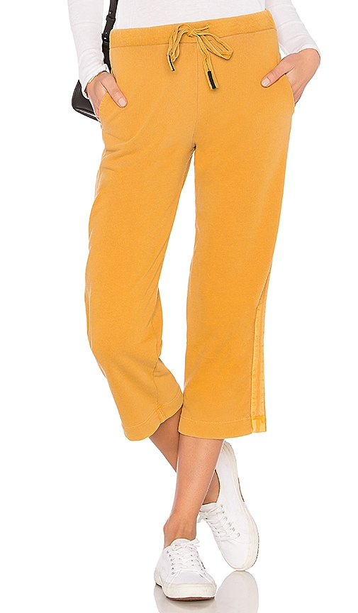 Stateside French Terry Wide Leg Pant in Mustard