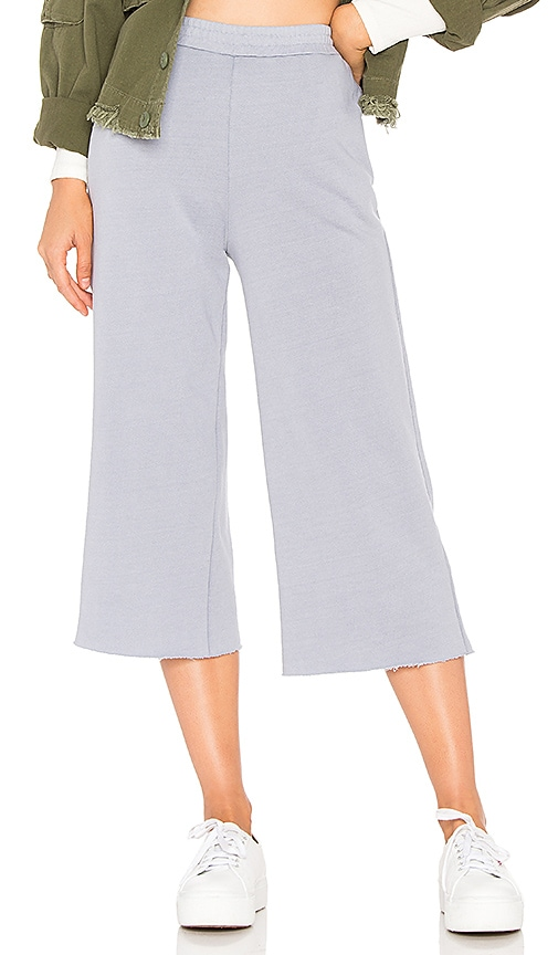 Stateside French Terry Culotte Pant in Gray