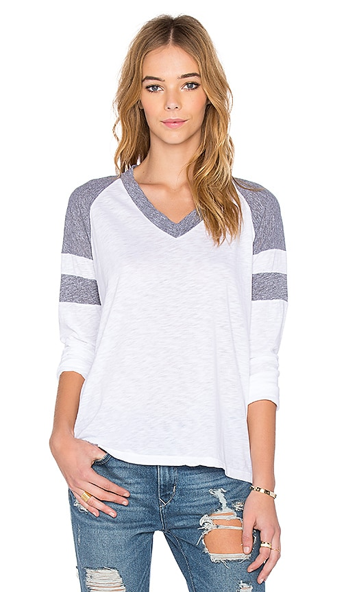 V Neck Jersey Long Sleeve Tee
