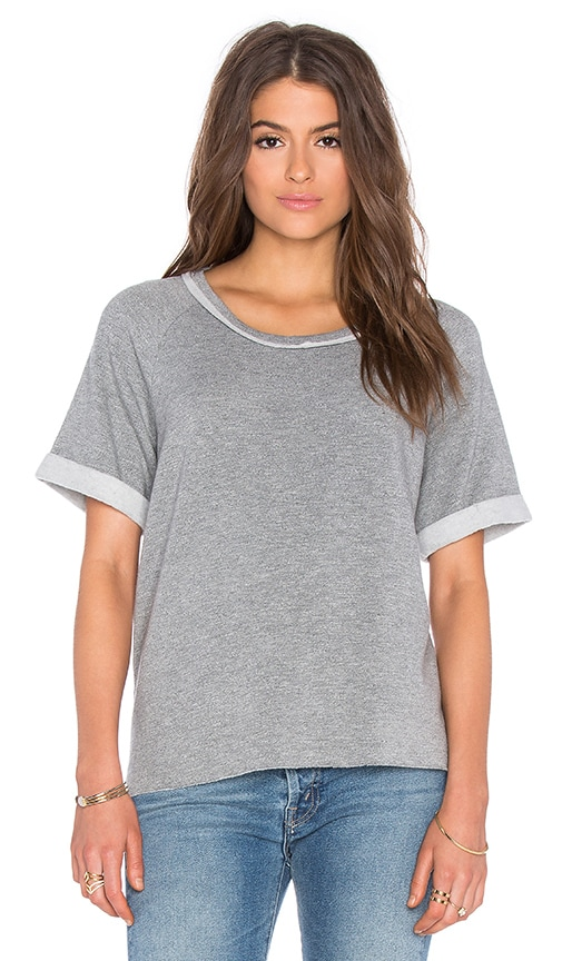 Stateside Viscose Fleece Short Sleeve Tee in Gray