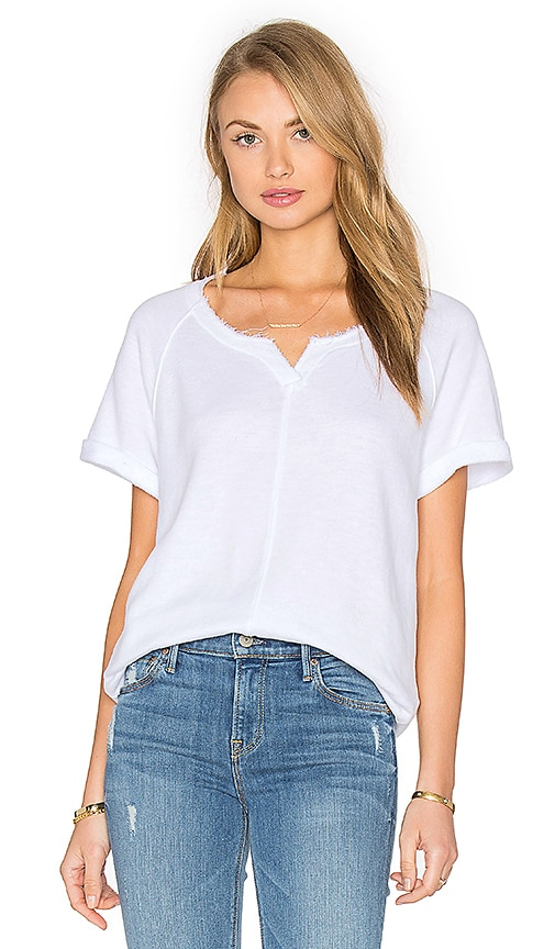 Slub French Terry Short Sleeve Top