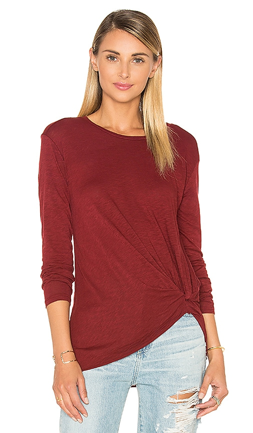 Slub Jersey Knotted Long Sleeve