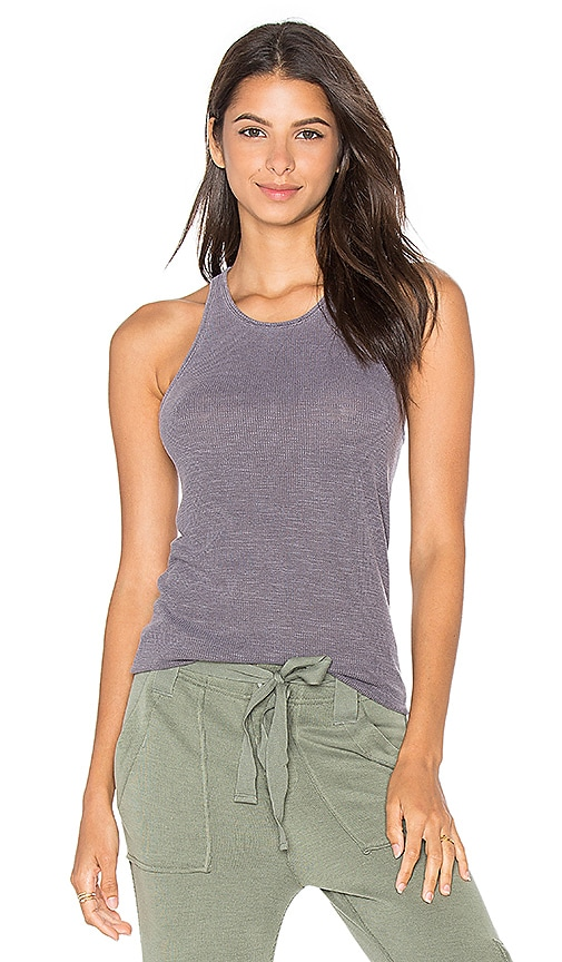 Stateside 2x1 Slub Rib Tank in Gray