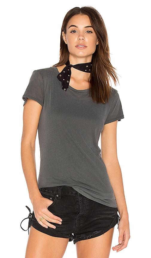 Stateside Layered Jersey Tee in Charcoal