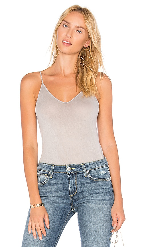 Stateside Lightweight Jersey Tank in Gray