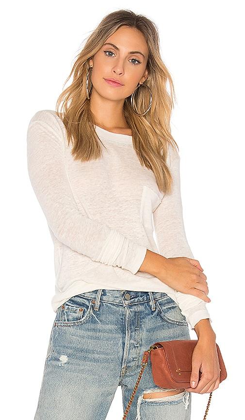 Stateside Linen Jersey Top in Cream