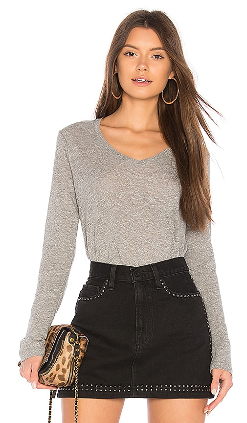 Stateside Supima Slub Top in Gray