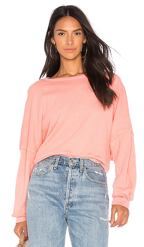 Stateside French Terry Sweatshirt in Pink