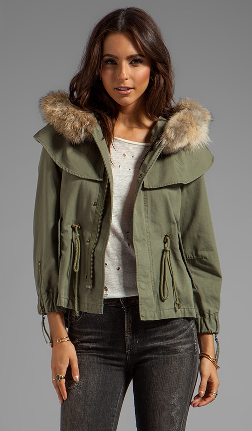 Twill Cropped Cape Jacket