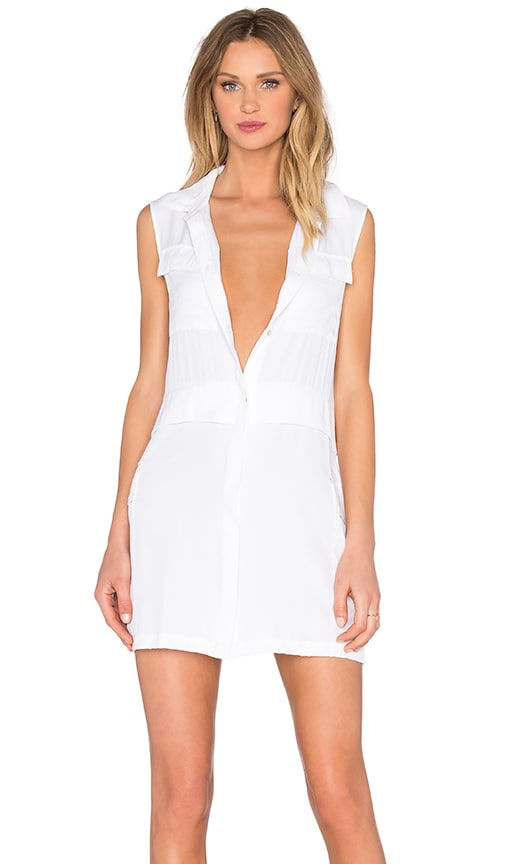 State of Being Fantasia Shirt Dress in White