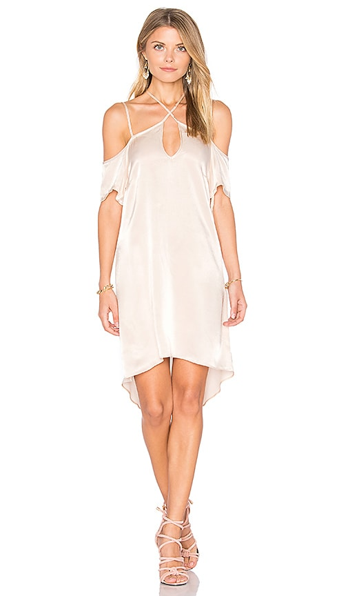 State of Being Dorothy Mini Dress in Beige