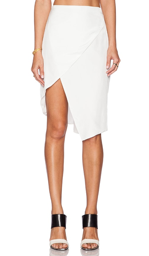Crossover Asymmetric Skirt