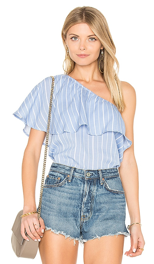 State of Being Unknown Shoulder Top in Blue