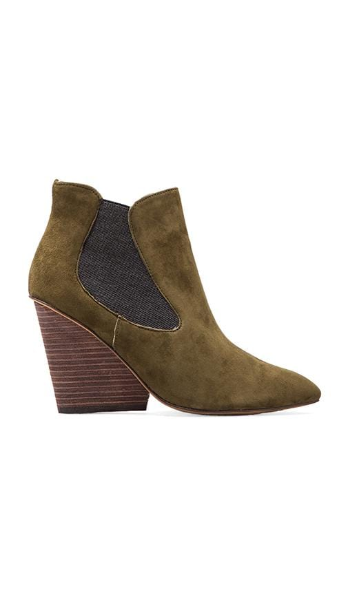 Maliik Bootie is Green Suede