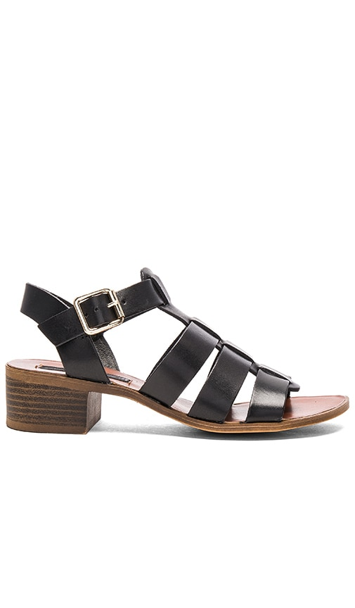 Steven Aminah Sandal in Black Leather