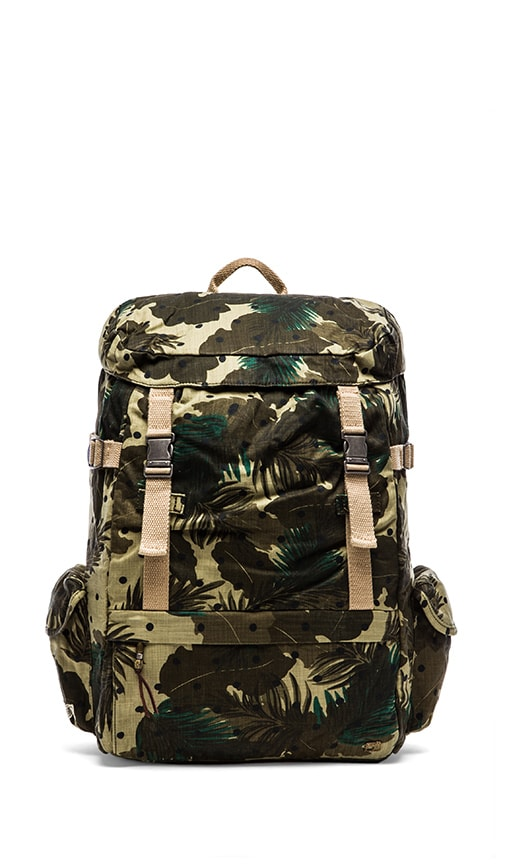 Allover Printed Canvas Backpack