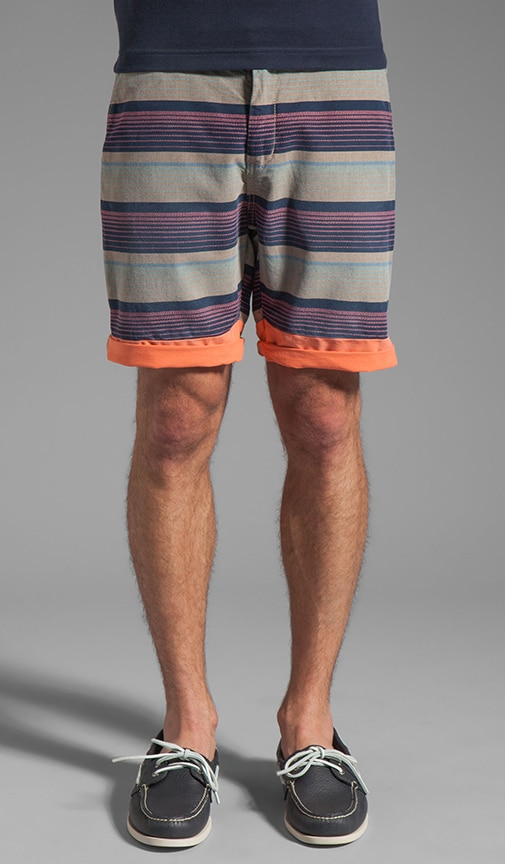 Patterned Stripe Short