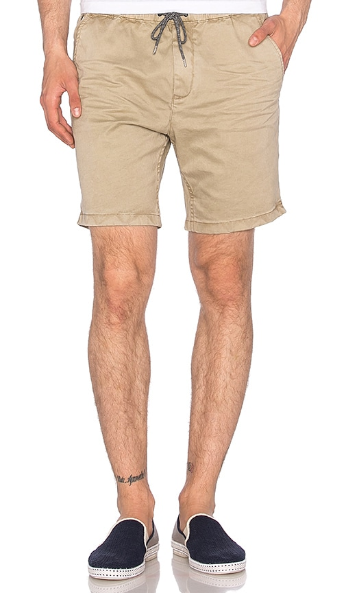 Scotch & Soda Chino Short with Elastic Waistband in Beige